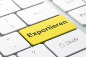 Business concept: Exportieren(german) on computer keyboard backg — Foto Stock