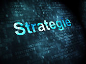 Business concept: Strategie(german) on digital background — Stockfoto