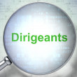 Finance concept: Dirigeants(french) with optical glass on digita — Foto de stock #32660829