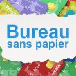 Finance concept: Bureau Sans papier(french) on Credit Card backg — Stock Photo #32660855