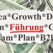 Finance concept: Fuhrung(german) on Money background — Stock Photo