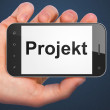 Finance concept: Projekt(german) on smartphone — Foto de stock #32662101