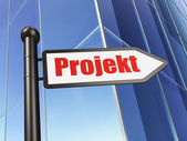 Finance concept: Projekt(german) on Building background — Stock Photo