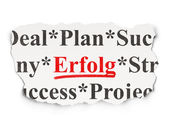 Business concept: Erfolg(german) on Paper background — Stock Photo