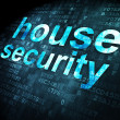 Privacy concept: House Security on digital background — Stock Photo
