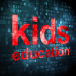 Education concept: Kids Education on digital background — Stock Photo