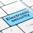 Privacy concept: Electronic Security on computer keyboard backgr — Stock Photo