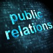 Stock Photo: Advertising concept: Public Relations on digital background