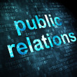 Advertising concept: Public Relations on digital background — Stock Photo