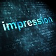 Marketing concept: Impression on digital background — Stock Photo