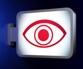 Privacy concept: Eye on billboard background — Stock Photo