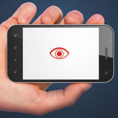 Protection concept: Eye on smartphone — Foto Stock