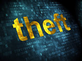 Privacy concept: Theft on digital background — Stock Photo