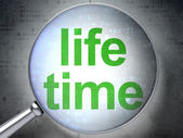 Time concept: Life Time with optical glass — Stock Photo