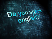 Education concept: Do you speak English? on digital background — Stok fotoğraf