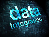 Information concept: Data Integration on digital background — Stok fotoğraf