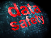 Information concept: Data Safety on digital background — Stok fotoğraf