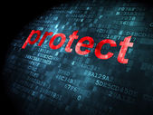 Privacy concept: Protect on digital background — Foto Stock