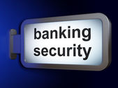 Protection concept: Banking Security on billboard background — Stock Photo