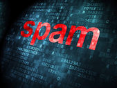 Security concept: Spam on digital background — Stock Photo