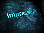 Marketing concept: Impression on digital background — Foto de Stock