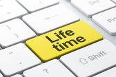 Time concept: Life Time on computer keyboard background — Stock Photo