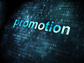 Advertising concept: Promotion on digital background — Foto Stock