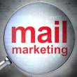 Marketing concept: Mail Marketing with optical glass — Photo #33140345