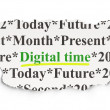 图库照片: Timeline concept: Digital Time on Paper background