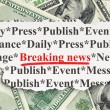 News concept: Breaking News on Money background — Foto de Stock