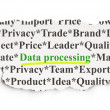 Data concept: Data Processing on Paper background — Stock Photo