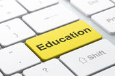 Education concept: Education on computer keyboard background — Stok fotoğraf