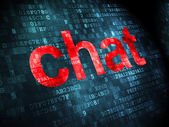 SEO web development concept: Chat on digital background — Stock Photo