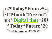 Timeline concept: Digital Time on Paper background — Stock Photo