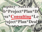 Finance concept: Consulting on Money background — Stok fotoğraf