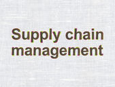Marketing concept: Supply Chain Management on fabric texture bac — Stock Photo