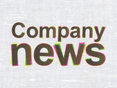 News concept: Company News on fabric texture background — Stock Photo