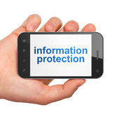 Privacy concept: Information Protection on smartphone — Stockfoto