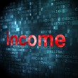 Stockfoto: Finance concept: Income on digital background