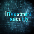 Protection concept: Investment Security on digital background — Stock Photo