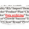 Photo: Information concept: DatArchiving on Paper background