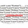 Stock Photo: Education concept: Continuing Education on Paper background