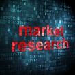 Marketing concept: Market Research on digital background — Foto de Stock