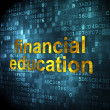 Education concept: Financial Education on digital background — Stock Photo #33293063