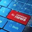 News concept: Finance Symbol and Company News on computer keyboa — Foto de stock #33293633
