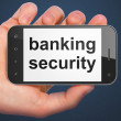 Safety concept: Banking Security on smartphone — 图库照片 #33293731