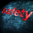 Stock Photo: Protection concept: Safety on digital background