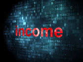 Finance concept: Income on digital background — Foto Stock