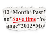 Timeline concept: Save Time on Paper background — Stock Photo