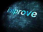Business concept: Improve on digital background — Foto Stock